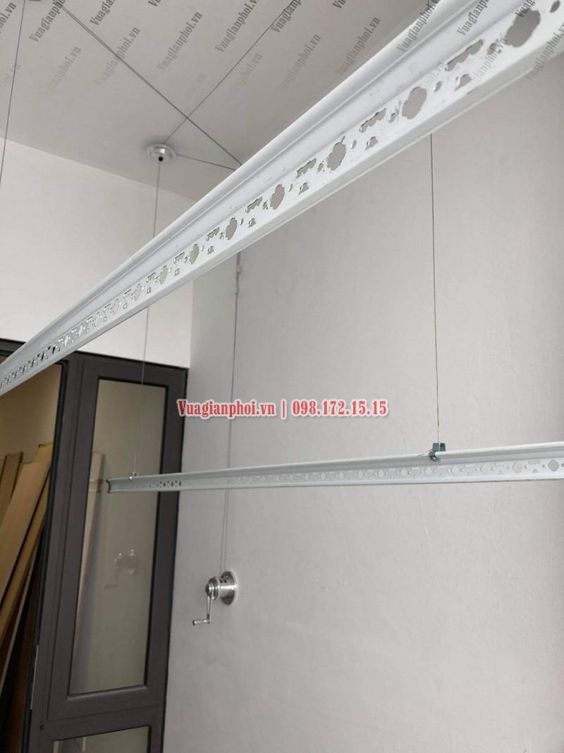Lắp giàn phơi Sài Đồng Long Biên giá rẻ nhà anh Doãn, chung cư A13 - 03