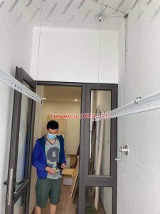 Lắp giàn phơi Sài Đồng Long Biên giá rẻ nhà anh Doãn, chung cư A13 - 07