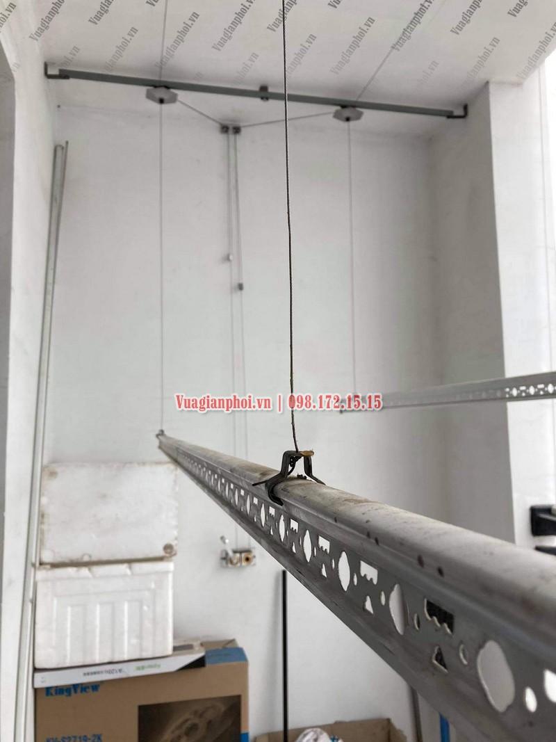 Sửa giàn phơi Royal City: thay dây cáp tại tòa R4 nhà chị Thêm - 01