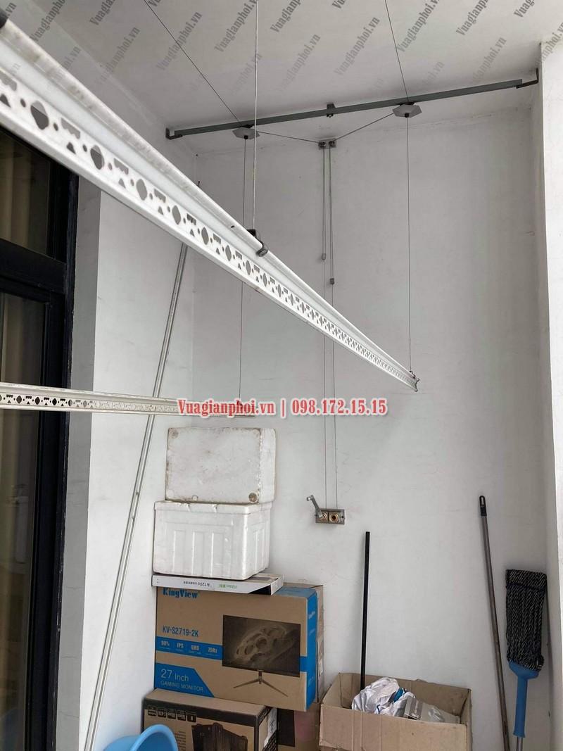 Sửa giàn phơi Royal City: thay dây cáp tại tòa R4 nhà chị Thêm - 03